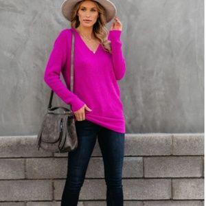 BROOKE V-Neck Pullover Sweater